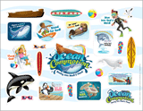 Ocean Commotion VBS: Logo & Clip Art Sticker Sheet