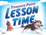 Operation Arctic VBS:Treasure Point Lesson Time Rotation Sign