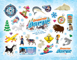 Operation Arctic VBS: Logo & Clip Art Sticker Sheet