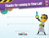 Time Lab VBS: Visitor Certificates