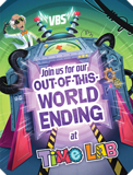 Time Lab VBS: Closing Program Invitation Postcard