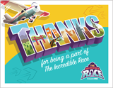 The Incredible Race VBS: Staff Appreciation Postcards