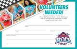 The Incredible Race VBS: Volunteer Recruitment Flier