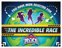 The Incredible Race VBS: Invitation Postcard