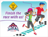 The Incredible Race VBS: Closing Program Invitation Postcard