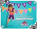 The Incredible Race VBS: Happy Birthday Follow Up Postcard