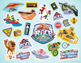 The Incredible Race VBS: Logo & Clip Art Sticker Sheet