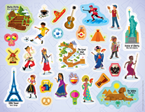 The Incredible Race VBS: Incredible Race Stickers