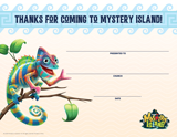 Mystery Island VBS: Visitor Certificates