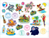 Mystery Island VBS: Logo & Clip Art Sticker Sheet