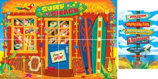 Mystery Island VBS: Surfer Shack Scene Setter: PDF