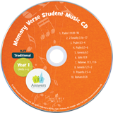 Traditional Memory Verse Student Music CD Single Copy