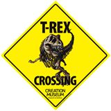 T-rex Crossing Sign