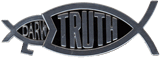 Truth Fish Auto Emblem - Silver