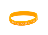 Prepare to Believe Wristband: Orange