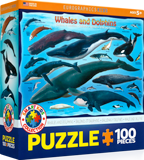 Animals of the Ocean Puzzle: Whales and Dolphins: 100 Pieces