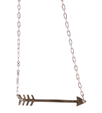 Arrow Necklace: Silver