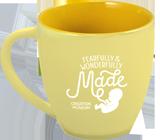 Fearfully & Wonderfully Made Mug: Yellow