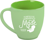 Fearfully & Wonderfully Made Mug: Green