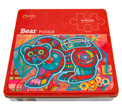 Kids Bear Puzzle in Tin