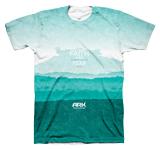 Ark Landscape T-shirt: Turquoise Large