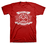Ark Ship Builders T-shirt: Red Large