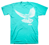 Ark Dove T-shirt: Blue Large