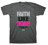 Faith Like Noah T-shirt: Gray Large