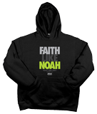 Faith Like Noah Hoodie: Black Large