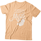 Fearfully & Wonderfully Made T-shirt: Peach Small