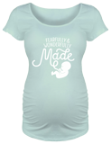 Fearfully & Wonderfully Made Maternity T-shirt: Blue Small