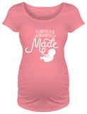 Fearfully & Wonderfully Made Maternity T-shirt: Pink Small