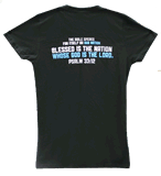 """Blessed is the Nation . . ."" T-Shirt: Youth L"