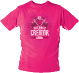 My Heart Belongs to My Creator T-Shirt: Ladies Fitted XS, Size 2