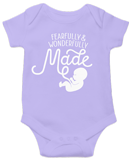 Fearfully & Wonderfully Made Onesie: Purple 12 Month