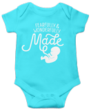 Fearfully & Wonderfully Made Onesie: Aqua 24 Month
