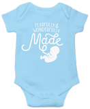 Fearfully & Wonderfully Made Onesie: Light Blue 24 Month