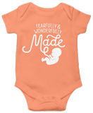 Fearfully & Wonderfully Made Onesie: Peach 24 Month