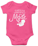 Fearfully & Wonderfully Made Onesie: Pink 24 Month