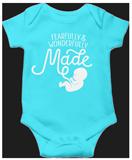 Fearfully & Wonderfully Made Onesie: Aqua Newborn