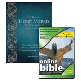 Henry Morris Study Bible and Online Bible Combo: Black Genuine Leather
