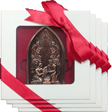 Bronze Nativity Ornament: 4-Pack