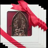 Bronze Nativity Ornament: 4-Pack
