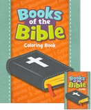 Books of the Bible Coloring Book and Trading Cards Pack