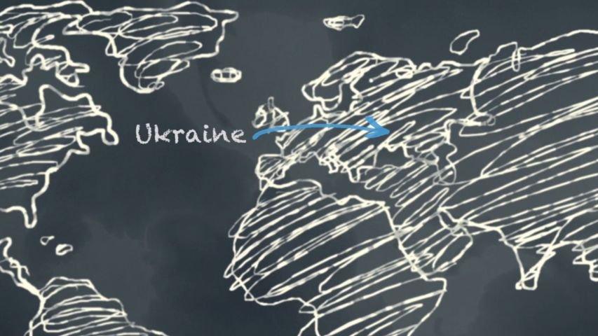 Day 2: Ukraine on World Map