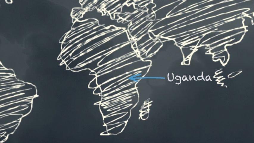 Day 3: Uganda on World Map