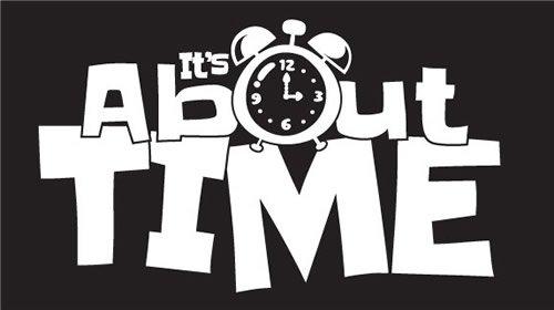 Time Lab White on Black Logo